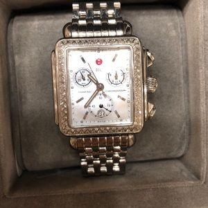 Michele deco diamond women's watch